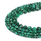 Ruilong AA+ facettierte Perlen Naturstein Perlen DIY Edelstein lose Strang Perlen für Schmuckherstellung, Malachite, 8 mm