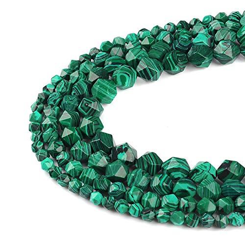 Ruilong - perle sfaccettate di grado aa + perline sfuse in pietra naturale per lavori fai da te, pietre preziose per la realizzazione di gioielli, malachite, 8 mm