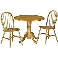 Julian Bowen Dundee Dropleaf Tisch Mit 2 Windsor Stühlen, Honigfarbenes  Pinien Finish