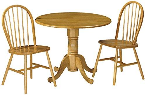 Julian Bowen Dundee dropleaf Tisch mit 2Windsor-Stühlen, honigfarbenes Pinien-Finish (Dining Chair Windsor)