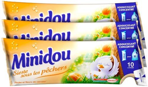 minidou-adoucissant-en-doses-pche-et-fleurs-de-cerisier-tripack-250-ml-30-lavages-lot-de-4