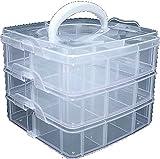 'Utensili/contenitore per Nail Art Torre, espandibile, Plastica: Bianco, Dimensioni: ca. 15x 15x 13cm.
