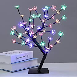 """24 LED Tree Home Decoration Lighting   Size 14 x 5"""" Inch   Festival Lamp Creative Gift Diwali Christmas Wedding Party Event - Multi Color"""