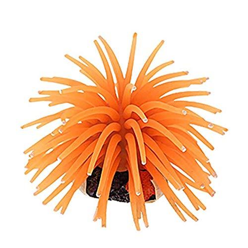 Orange Fisch Kostüm - Trifycore Multi-Modellierung mit künstlichen Seeigel Coral Ersatz für Aquarium Aquarium Dekoration Orange (Größe S), Fische und Wasser Zoohandlungen