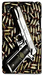Timpax protective Armor Hard Bumper Back Case Cover. Multicolor printed on 3 Dimensional case with latest & finest graphic design art. Compatible with Sony L39H - Sony 39 Design No : TDZ-24268