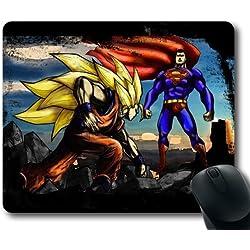 Cartoon Superman vs Goku Mouse Pad, Customized Rectangle Mousepad Diy By Bestsellcase