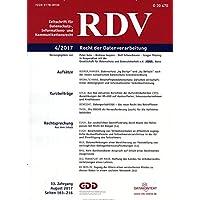 RDV - Recht der Datenverarbeitung [Jahresabo]