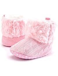TININNA Zapatos Botas Invierno Cálido Para Bebé Niños Niñas Mantenga Cálida Nieve Suave Suela Botas de