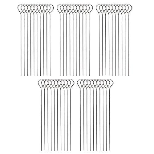 COM-FOUR® 50 Stück Rouladennadeln, Edelstahl (50 Stück)
