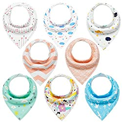 Baby Bandana Dribble Bibs 8 Pack Drool Bibs For Drooling & Teething Super Soft & Absorbent For Boys Girls By Yoofoss