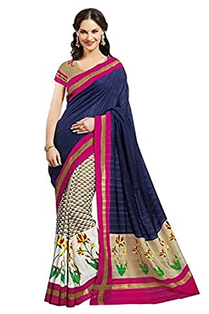 Divyaemporio Bhagalpuri Art Silk Saree (Dev-11448_Blue)