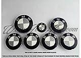 weiß& Silber Grau Kohlefaser BMW Abzeichen Emblem Überzug für alle BMW