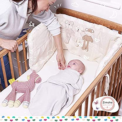 Manta Envolvente para Bebé y Recien Nacido – 2x Saco de Dormir Manta de Arrullo Cobija 100% Algodón – Para Bebes Recien Nacidos