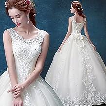 QP Vestido de Novia de Novia de Novia Vestido de Novia de Encaje Blanco,UN