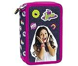 DISNEY soy luna 43 x TEILE 3-FÄCHER + Sticker von Kids4shop FEDERTASCHE FEDERMAPPE Federmäppchen Etui