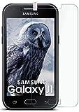 moex 9H Panzerfolie für Samsung Galaxy J1 (2015)   Panzerglas Bildschirm Glasfolie [Tempered Glass] Screen Protector Glas Bildschirmschutz-Folie für Samsung Galaxy J1 2015 Schutzfolie