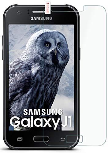 moex 9H Panzerfolie für Samsung Galaxy J1 (2015) | Panzerglas Bildschirm Glasfolie [Tempered Glass] Screen Protector Glas Bildschirmschutz-Folie für Samsung Galaxy J1 2015 Schutzfolie