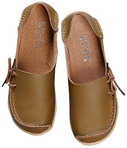 Fangsto  Loafer Flats, Basses femme Sty-1 Khaki