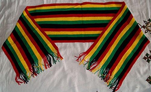 *** PROMOTION *** Echarpe rayée multicolore noir homme femme style Jamaïque Rasta Bob Marley ...