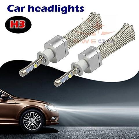 sweon Blanc Xenon H36000K Auto phare LED Kit de conversion lampe haute/faible faisceau ampoule CREE xhp-504800LM H1H4H7H11H1390039004900590069012
