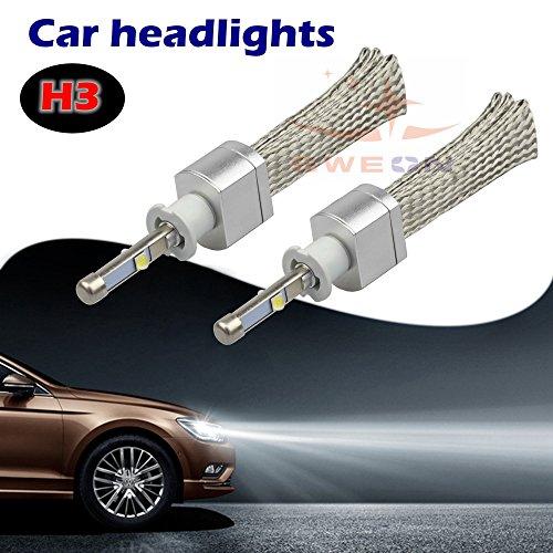 Preisvergleich Produktbild sweon H3Xenon weiß 6000K LED Auto-Scheinwerfer Conversion Kit High/Low Beam Lampe CREE xhp-504800lm H1H4H7H11H1390039004900590069012