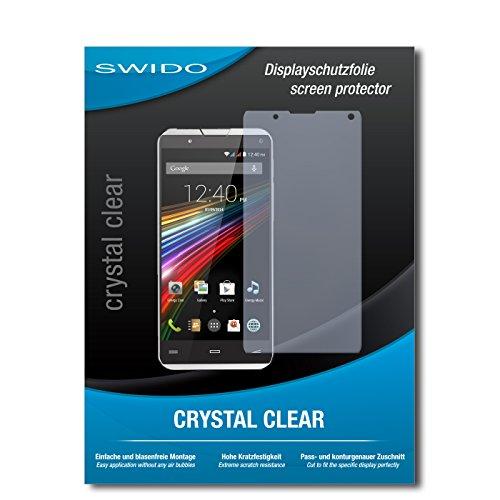 SWIDO Schutzfolie für Energy Sistem Phone Pro Qi [2 Stück] Kristall-Klar, Hoher Härtegrad, Schutz vor Öl, Staub & Kratzer/Glasfolie, Bildschirmschutz, Bildschirmschutzfolie, Panzerglas-Folie