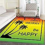 VORMOR Regenbogen-Teppich mit lebendigen Wirbeln, Regenbogenfarben, Handgezeichnetes Kunstwerk, optische Illusionen, Grunge Indoor/Outdoor, Teppich, Mehrfarbig, Color10, 4'x6'(W 120cm x L 180cm)