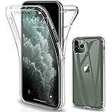 Oihxse transparante beschermhoes voor iPhone 5/5SE/5S, zachte silicone, 360 graden, 2-in-1, voor en achter, volledige bescherming, schokbestendig, krasbestendig, iPhone 7/8, Transparant