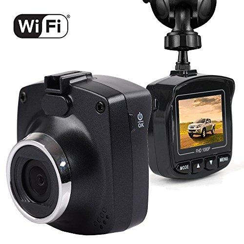 Auto Kamera 1080P Full HD Mini Dash Cam - Maxesla Wifi Auto DVR Rekorder, Dual-USB-Laden , 170° Weitwinkel, G-Sensor, Bewegungserkennung, Nachtsicht, Loop Recorder Armaturenbrett Kamera