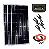Giosolar 300 Watt Monocrystalline Solar Starter Kit with 30A PWM LED Charge Controller for Off-Grid RV Boat Off-Grid Kit 12 Volt Battery System
