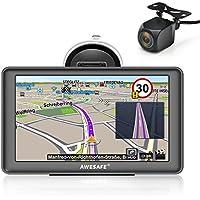 GPS Voiture Auto Europe 7 Pouces Ecran Tactile Cartographie Europe 48 à Vie Mises à Jour gratuites de la Carte (avec Caméra)
