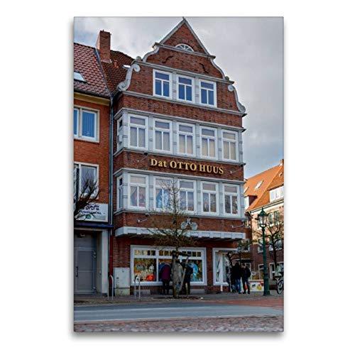 Calvendo Premium Textil-Leinwand 60 cm x 90 cm hoch, Dat Otto Huus in Emden, Ostfriesland   Wandbild, Bild auf Keilrahmen, Fertigbild auf echter Leinwand. des Komikers Otto Waalkes Orte Orte