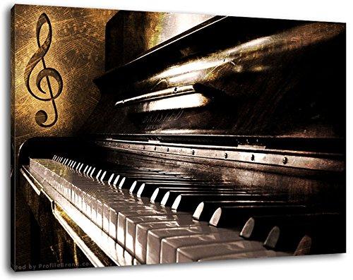 Piano-Notes-Nahaufnahme-Klavier-Format80x60-cm-Bild-auf-Leinwand-bespannt-riesige-XXL-Bilder-komplett-und-fertig-gerahmt-mit-Keilrahmen-Kunstdruck-auf-Wand-Bild-mit-Rahmen-gnstiger-als-Gemlde-oder-Bil
