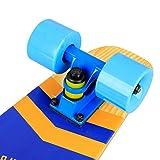 Baytter 22 Zoll Skateboard Komplett Board Mini-Cruiser aus 7-lagigem Ahornholz 57 x 15cm für Kinder, Jugendliche und Erwachsene - 4
