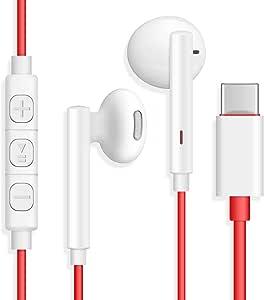 ACOCOBUY Écouteurs USB C OnePlus 7 Pro Numériques Écouteurs