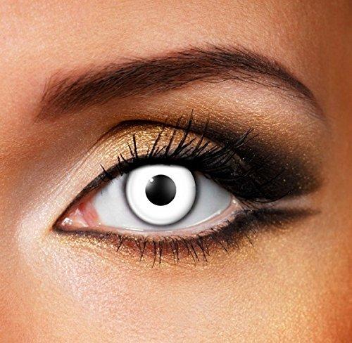 Funky Vision Kontaktlinsen - 12 Monatslinsen, White Out, Ohne Sehstärke, 1 Stück