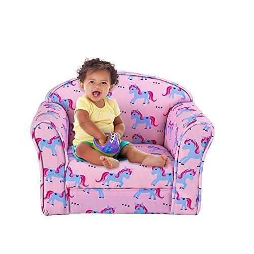 Ruication Kindersessel mit Tiermotiv und Blumenmuster, Stoff gepolstert, für Mädchen, Jungen, Cartoon-Sitz Unicorns