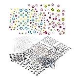 Hosaire 50 hojas Transferencia de arte pegatinas diseño 3D DIY manicura consejos etiqueta decoraciones de uñas