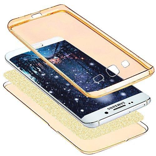 Cover Samsung Galaxy S3,Custodia Samsung Galaxy S3,KunyFond Crystal Clear Protettiva Case Custodia 360 Gradi di Protezione Completa Morbida Gel Custodia Silicone Tpu Copertura Trasparente Macchia Desi oro
