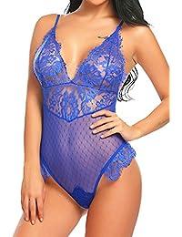 ca826991a6 Amazon.es  Azul - Lencería y ropa interior   Mujer  Ropa