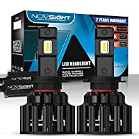 NOVSIGHT H7 LED Headlight Bulbs 100W (50W/Bulb) 20000LM (10000LM/Bulb) 6000K Beam Lampe All-in-One Conversion Kit Lampe Lights of Halogen and Xenon Kit