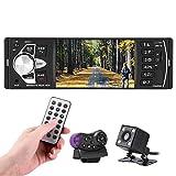 Bluetooth Autoradio, Parkomm 4,1 Zoll Auto Radio MP5 MP3 Player mit HD Bildschirm, Freisprecheinrichtung, Radiofunktion, Umkehrfunktion, Unterstützung für Bluetooth/USB / TF/AUX / FM (mit Kamera)