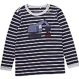 Fred's World by Green Cotton Jungen T-Shirt Work Stripe T Baby, Blau (Navy 019392001), 92