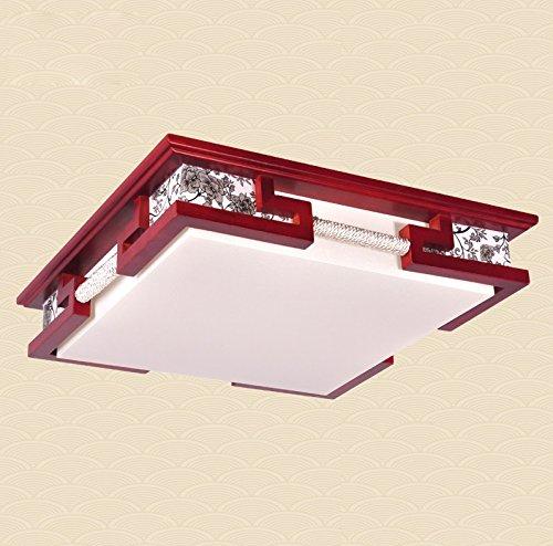 Lampade cinesi ha portato soffitto del salotto moderna lampada lampada da letto studio minimalista in legno lampada antica atmosfera da pranzo ( dimensioni : 65x12cm )