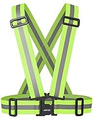 Reflektorweste, AGPtek Warnweste Leicht einstellbar hohe Sichtbarkeit, elastische reflektierende Gürtel-Weste / Fahrradtrikot / Sicherheitsweste vielseitig komfortabel passt für Sport oder Outdoor-Bekleidung
