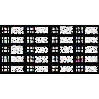 abestair verwendbar Airbrush Nail Art Schablone 320Designs–20Vorlage Blatt Set 8