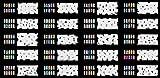 ABEST verkauf Wiederverwendbarer Airbrush DESIGNS der Nail-Art Schablone 320 - 20 Blätter Kit Vorlagensatz 8