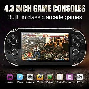 DZSF 4,3-Zoll-PSP Handspiel-Konsole Dual-Rocker Built-In Hundert Spiele-Support Foto Can Mp4mp5 E-Buch Spiel Herunterladen Wiedergabe