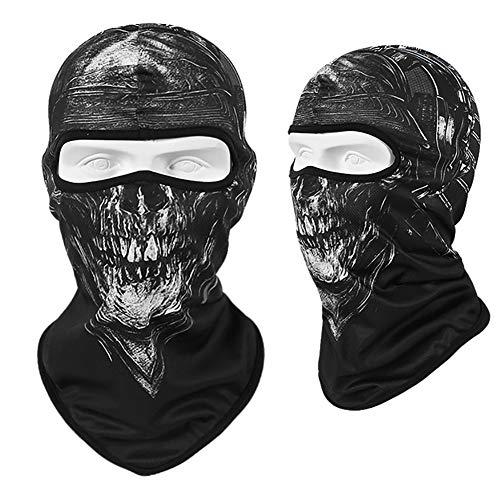 3D Schädel Motorrad Balaclava Full Face Maske Wärmer Schild Helm Liner Ski Paintball Snowboard Biker Reiten Schild Haube,B