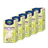 Krüger Chai Latte Fresh India, Ingwer-Zitronengras, mildes Milchtee Getränk, 5er Pack, 5 x 10 Portionsbeutel